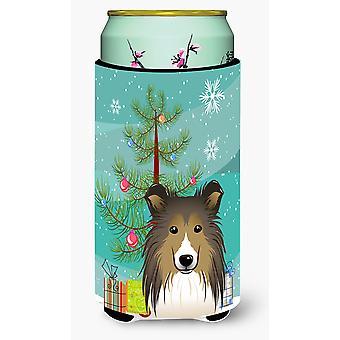 شجرة عيد الميلاد وشيلتي صبي طويل القامة المشروبات عازل نعالها