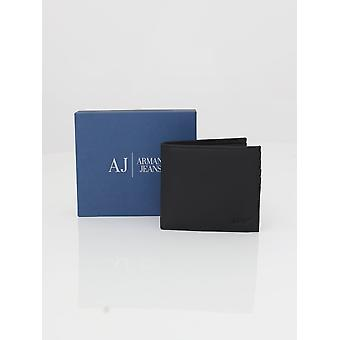 Armani Jeans Leather Card And Wallet - Black