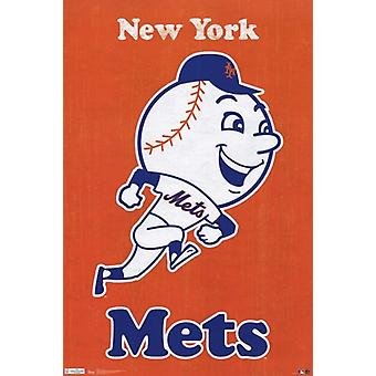 Mets - Retro Logo 11 Poster Poster Print