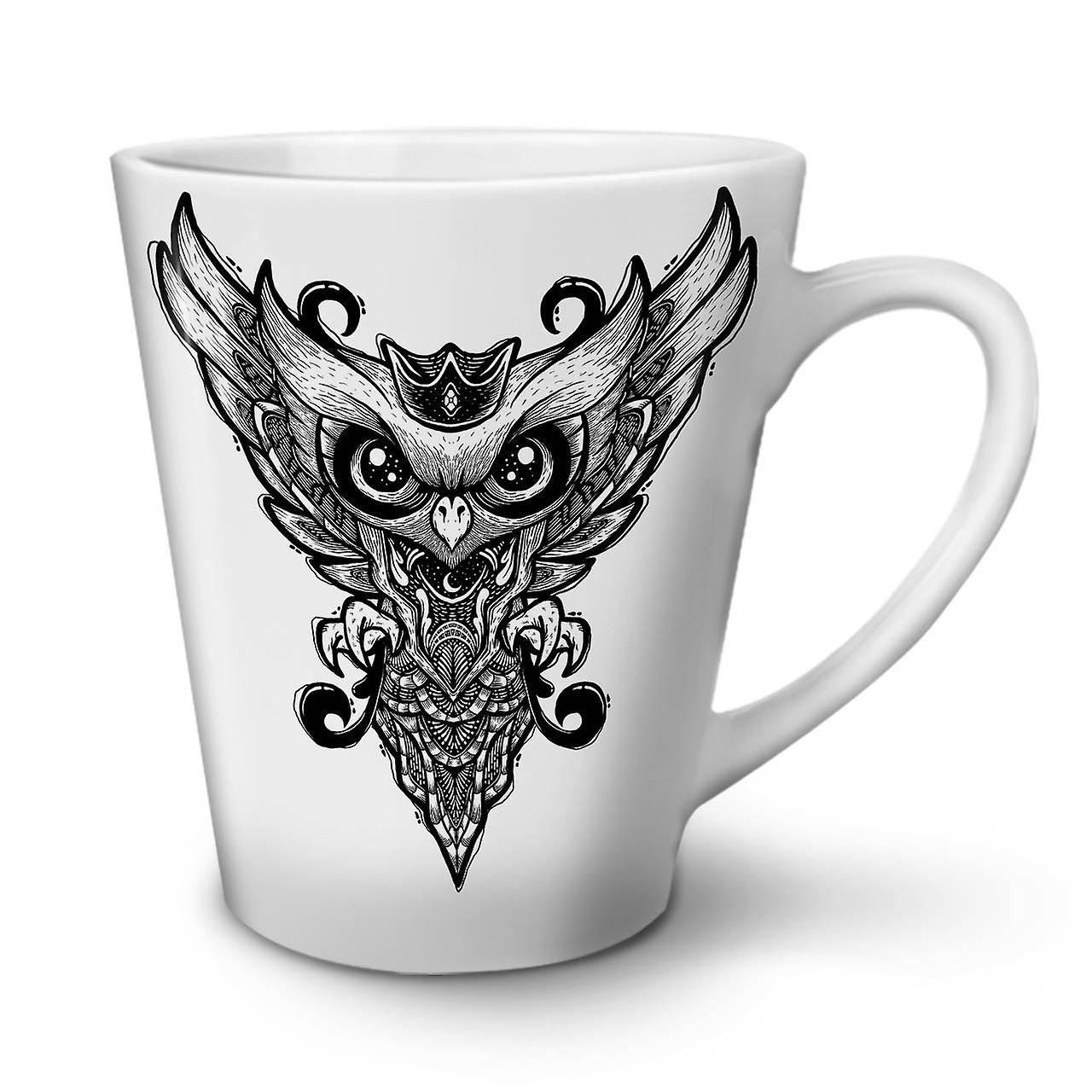 Hibou En Graphique OzWellcoda Café Céramique Nouvelle Latte Blanche 12 Tasse xQBerWCdo