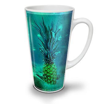 Underwater Pineapple NEW White Tea Coffee Ceramic Latte Mug 17 oz | Wellcoda