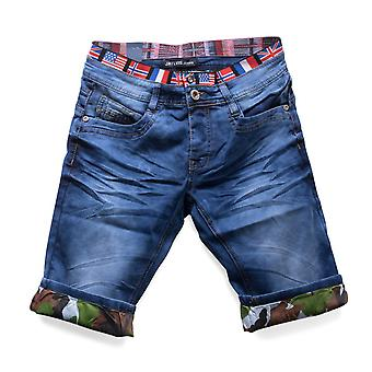 Men's shorts to stretchy shorts stretch jeans shorts denim flag Nr. 1507