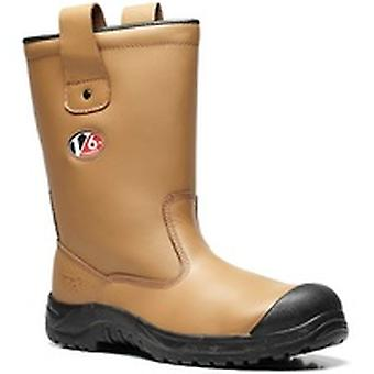 V12 V6816 Polar Tan Fur Lined Rigger Boot EN20345:2011-S1P Ci Size 7