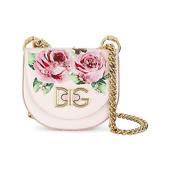 Dolce E Gabbana ladies BB6434AI919HAH41 pink leather shoulder bag