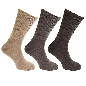 Mens Lambs Wool Blend Diabetic Extra Wide Socks (3 Pairs)
