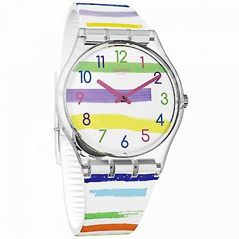 Swatch Ge254 Colorland Multicoloured Neon Silicone Watch