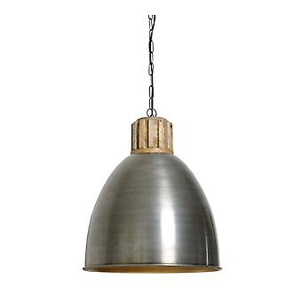 Light & Living Hanging Pendant Lamp D46x50cm Keila Vintage Tin Gold With Wooden To