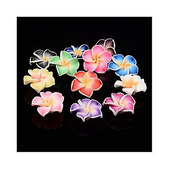 Packet 10 x Mixed Polymer Clay 10 x 20mm Flower Beads HA24215
