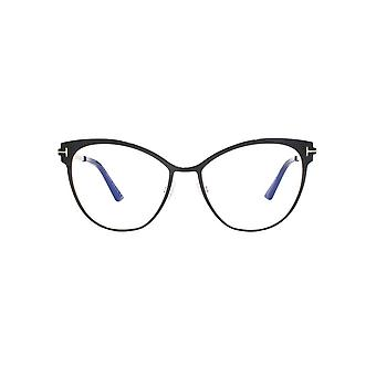 Tom Ford FT5530-B Blue Block Glasses In Black Silver