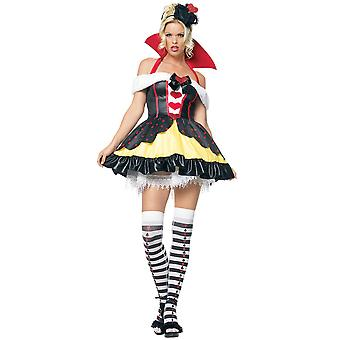 Costume Regina di cuori di Alice In Wonderland storia libro settimana da favola donne
