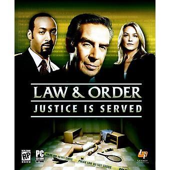 Lov og orden - retfærdighed er serveret (PC)
