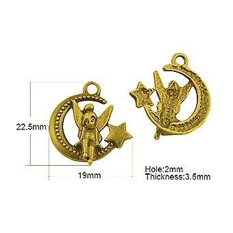 Packet 20 x Antique Gold Tibetan 23mm Moon Charm/Pendant HA08795