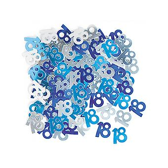 Birthday Glitz Blue - 18th Birthday Confetti