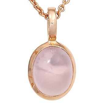 Rose gold pendant gemstone jewelry pendant 585 gold pink 1 Rose Quartz pink