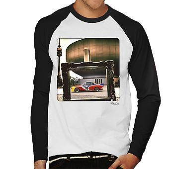 BMW Art Car Alexander Calder Men's Baseball Long Sleeved T-Shirt