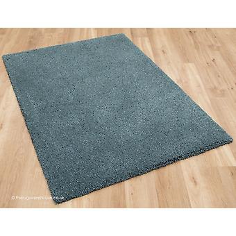 Confortable tapis gris bleu
