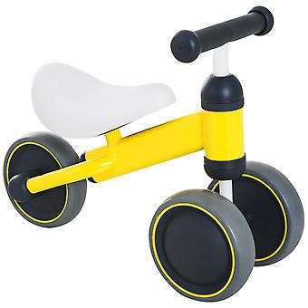 HOMCOM Kids Baby Toddler Trike 3 Wheel Ride-on Cycle Tricycle for Balance Training Yellow
