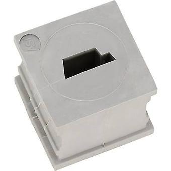 Icotek KT-ASI Cable grommet slotted Elastomer Grey 1 pc(s)