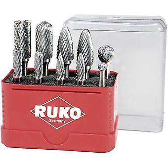 RUKO 116002 10pcs. HM fresing pin angir karbid Shank diameter 6 mm