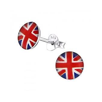 Tour d'Union Jack usure Union Jack en argent Sterling boucles d'oreilles