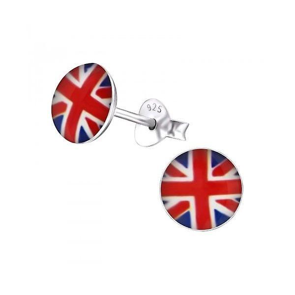 Union Jack Wear Union Jack Sterling Silver Round Earings