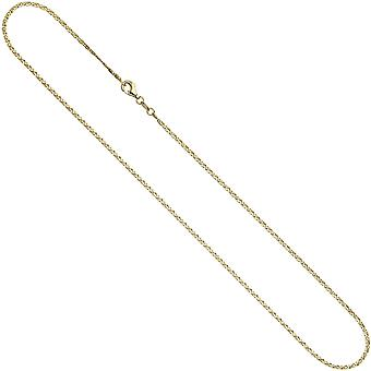 333 S curb chain Yellow Gold Diamond 1.6 mm 38 cm gold necklace gold necklace