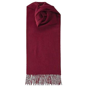 Johnstons of Elgin Lambswool Plain Scarf - Claret