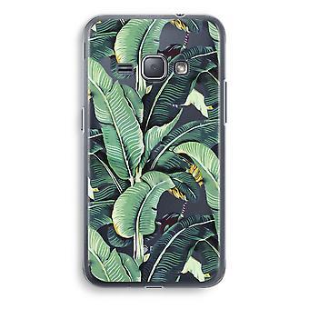 Samsung Galaxy J1 (2016) Transparent Case (Soft) - Banana leaves