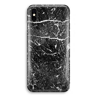 iPhone XS pełna głowiczki (błyszcząca) - czarny marmur