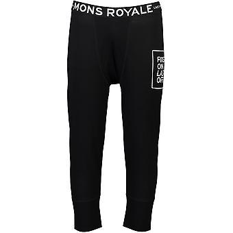 Mons Royale Shaun-Off 3/4 Leggings - Black