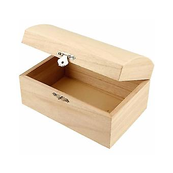 Softwood Treasure Chest to Decorate 16.5x11x8.5cm | Pirate Treasure Chests