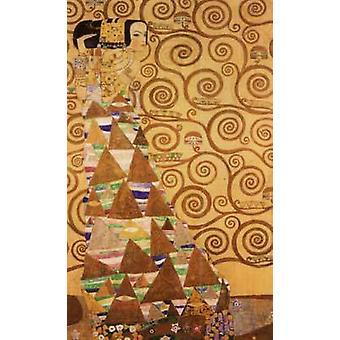 Verwachting, het patroon voor de Stoclet Fries, Gustav Klimt, 40x60cm met lade