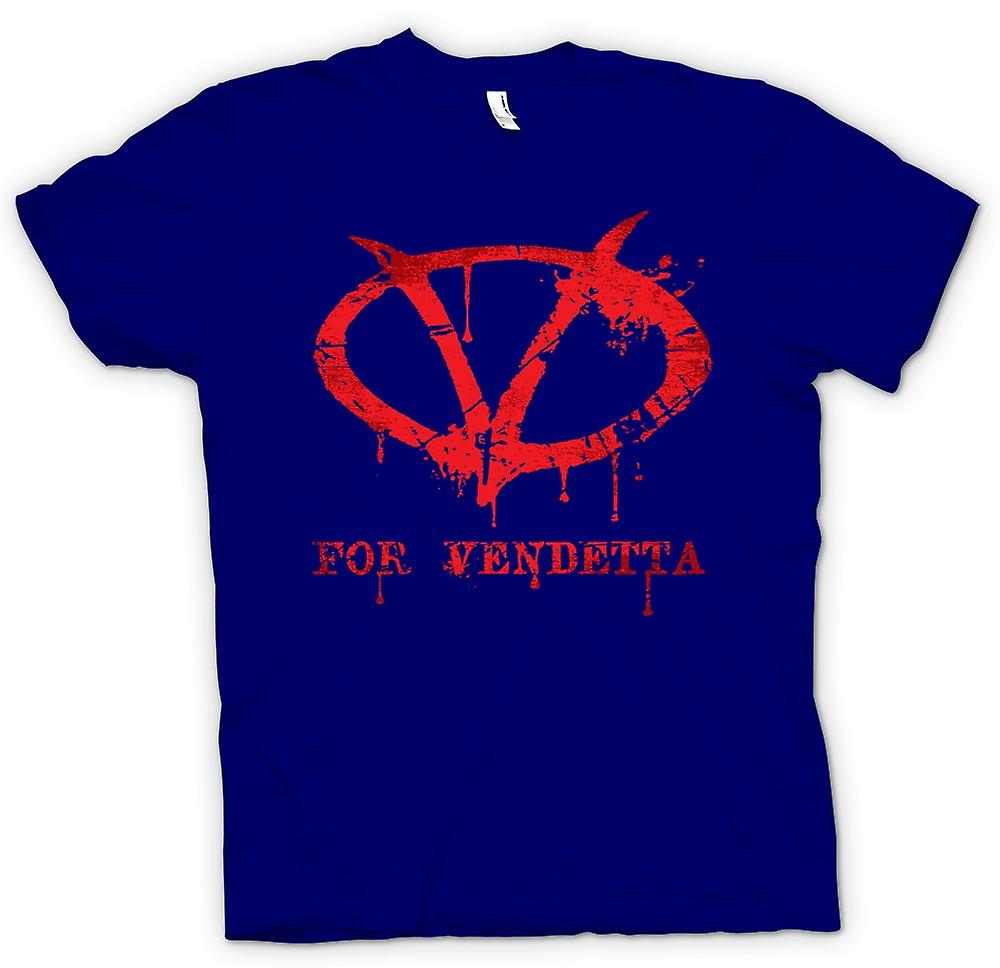 Mens t-skjorte - V For Vendetta - Graffiti Logo