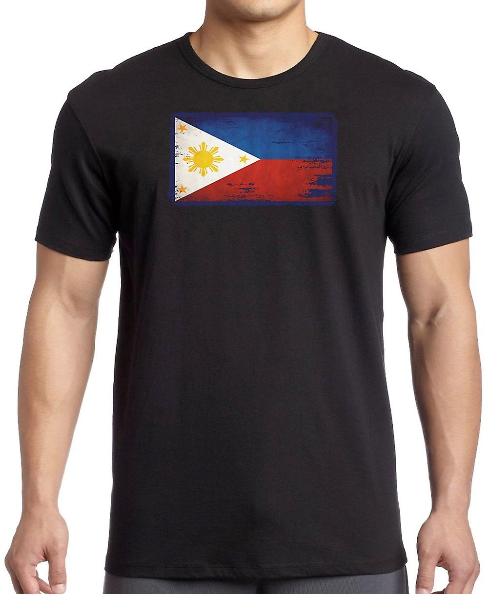 Filipino Phillipines Grunge Flag T Shirt  - 4xl