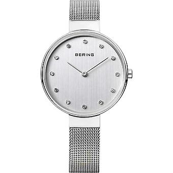 Bering Classic Silver Silver Mesh Bracelet Ladies Watch 12034-000 34mm