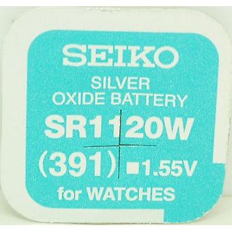 Seiko 391 (sr1120w) 1.55v Silver Oxide (0%hg) Mercury Free Watch Battery - Made In Japan