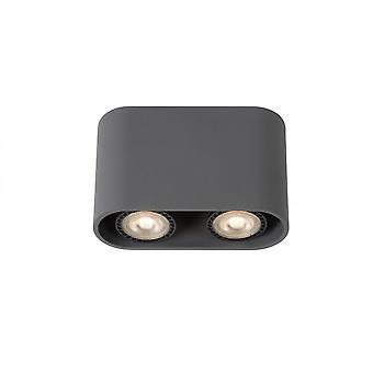 Lucide Bentoo-LED alluminio ovale moderno grigio luce del punto del soffitto