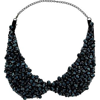 The Olivia Collection Navy Blue Acrylic Bead Collarette & 5
