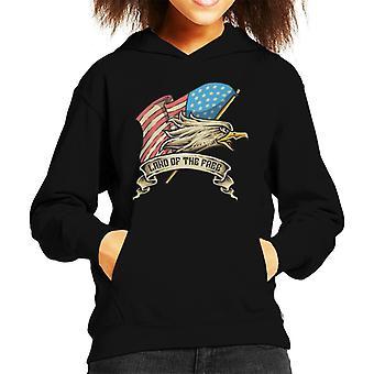 American Bald Eagle Head Kid's Hooded Sweatshirt