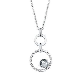 s.Oliver juvel damer kæde halskæde rustfrit stål krystaller 2024266