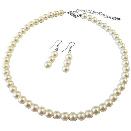 Ivory Pearls Jewelry Bridesmaid Necklace Wedding Pearls Jewelry Set