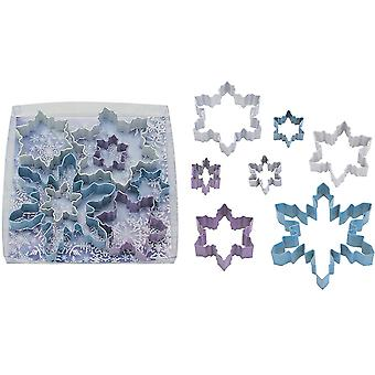 Set of 7 Snowflake Cookie Cutters for Christmas   Christmas Baking Supplies