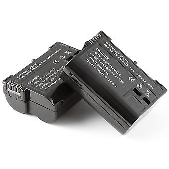 2x - Fully Decoded Battery for Nikon EN-EL15 ENEL15 D600 D800 D800E D7000 1 V1 1V1 MB-D12 MBD11 GRIP