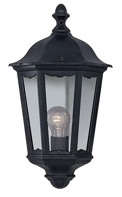 Noir de plein air Half Wall lumière Lantern - Searchlumière 82505BK