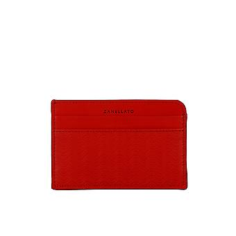 Zanellato 24:00 Cachemire Blandine Red Leather Card Holder