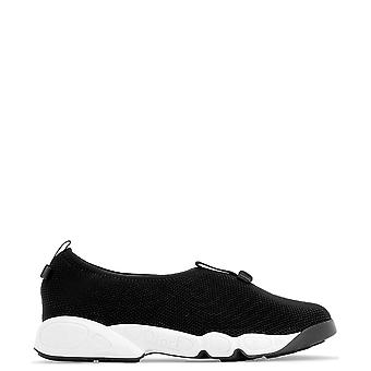Dior White/black Fabric Sneakers