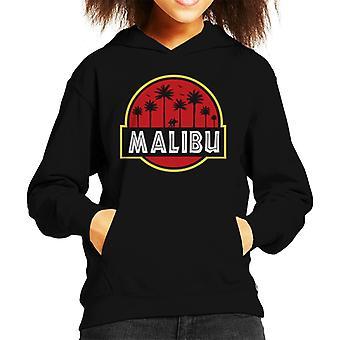 Malibu Jurassic Park Logo Kid's Hooded Sweatshirt