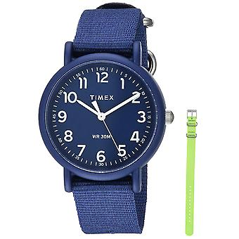 Timex Unisex Weekender Farbe Rush Navy/Green-Box-Set TWG018400