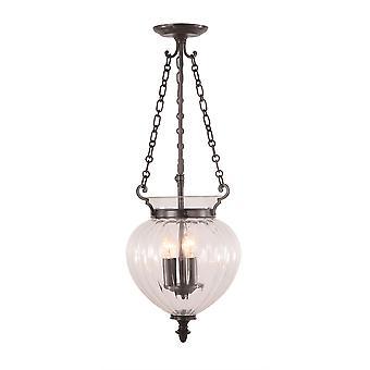 Stead-3 Light Medium Ceiling Pendant Alte Bronze-FP/P/M OLD BRZ