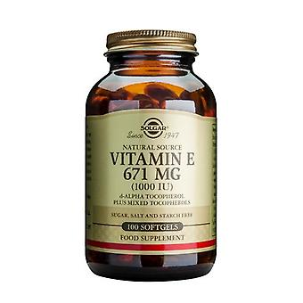 Solgar Vitamin E 671 mg (1000 IU) Mixed Softgels, 100